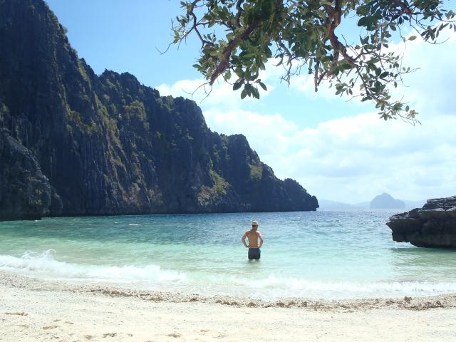 {private beach}