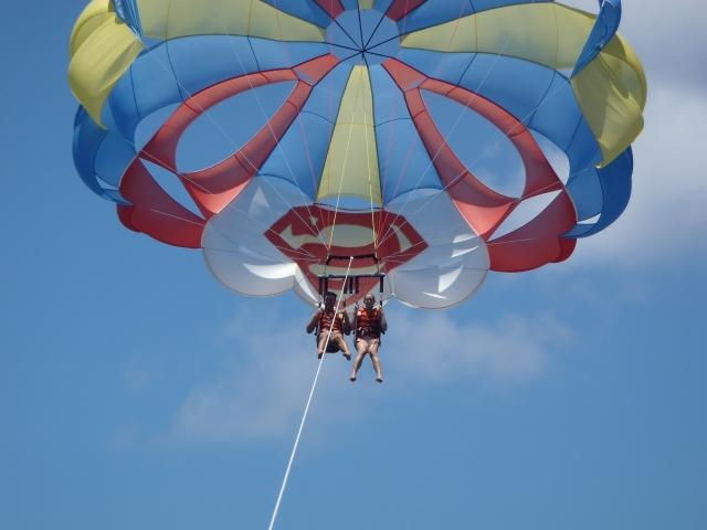 {parasailing fun}