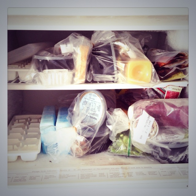 {Freezer stocked and ready to go with Dietlicious goodness}